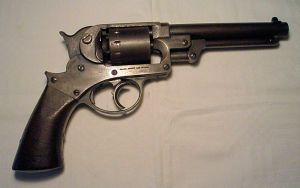 Click to enlarge a good .44 Starr percussion revolver with all numbers matching