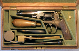 Click to enlarge A cased 80 bore percussion revolver by Murcott