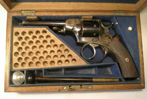 Click to enlarge A cased .32 rimfire revolver by Trulock and Harris, Dublin