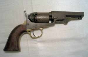 Click to enlarge a .31 Colt Pocket percussion revolver with a 4in. barrel