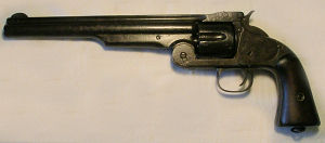 Click to enlarge A 1st Model transitional .44 Russian Smith and Wesson revolver