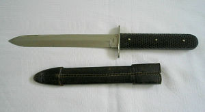 Click to enlarge A late Victorian spear pointed, single edge Bowie knife by Clark, Newcastle,in very good condition
