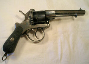 Click to enlarge A very good 9mm Lefaucheaux pattern pinfire revolver
