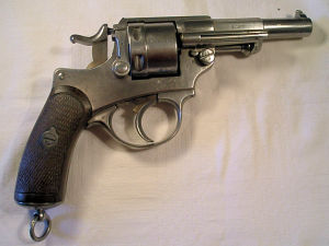Click to enlarge A very good Model 1873 French military centerfire 11 mm. revolver