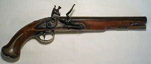 Click to enlarge a very fine Heavy Dragoon flintlock pistol by Abbey.