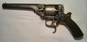 Click to enlarge a very rare 3rd Model 38 bore double trigger Tranter percussion revolver