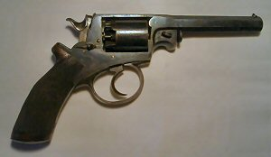 Click to enlarge A fine 120 bore Beaumont Adams percussion revolver