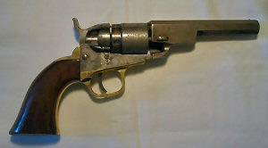 Click to enlarge A .38 Colt pocket rim fire conversion with New York address, Serial No. 353