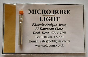 Click to enlarge Our own very small bore light with bright yellow light